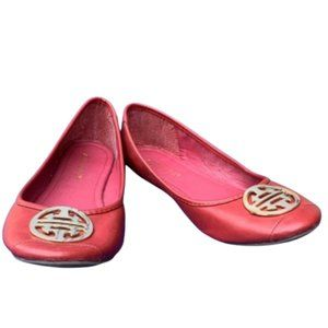 Breckelle's Maroon Slip-On Shoes (Size: 8.5)